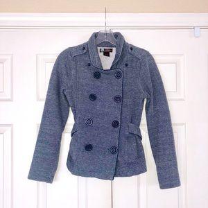 Jackets & Blazers - Pea coat sweatshirt, denim-look, button-up. S
